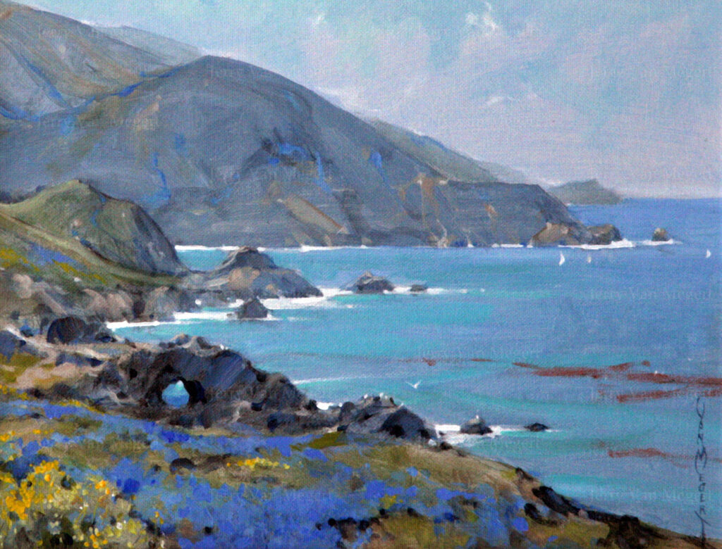 "Big Sur with Lupin 11""x14"""