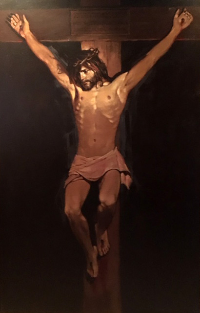 "Crucifixion, Won Blue Ribbon at Monterey Religious Art Competition 39""x64"""