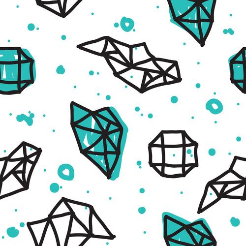geometric minimal seamless abstract pattern