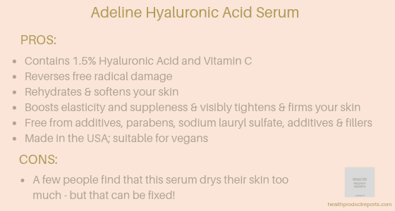 Adeline Hyaluronic Acid Serum