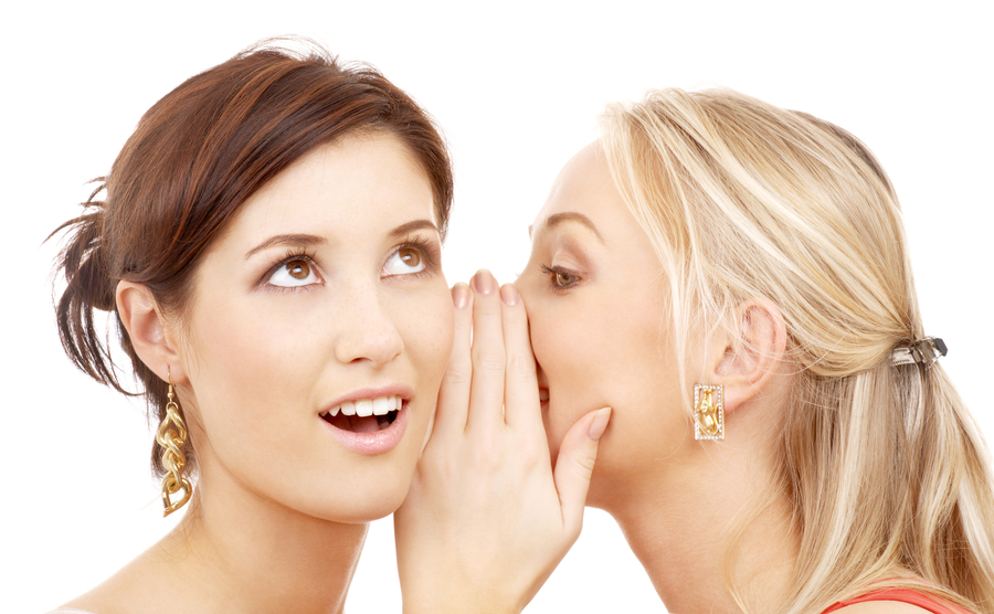 two girls chatting about facial serums