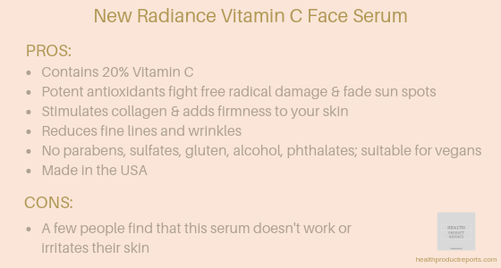 New Radiance vitamin C face serum