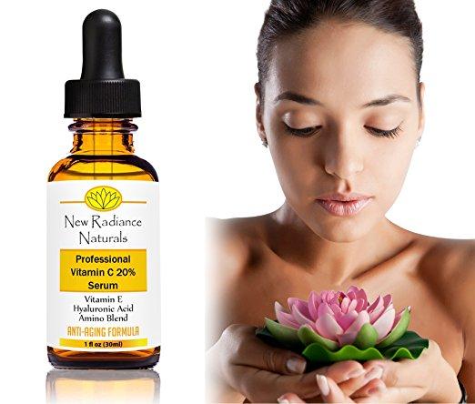 New Radiance vitamin C face serum
