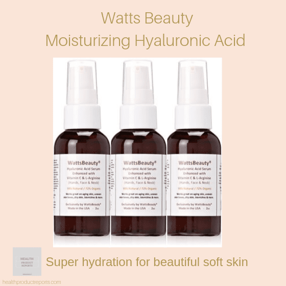 Watts Beauty Moisturizing Hyaluronic Acid
