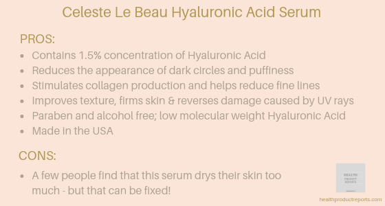 Celeste Le Beau Hyaluronic Acid Serum