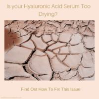 hyaluronic acid dries the skin