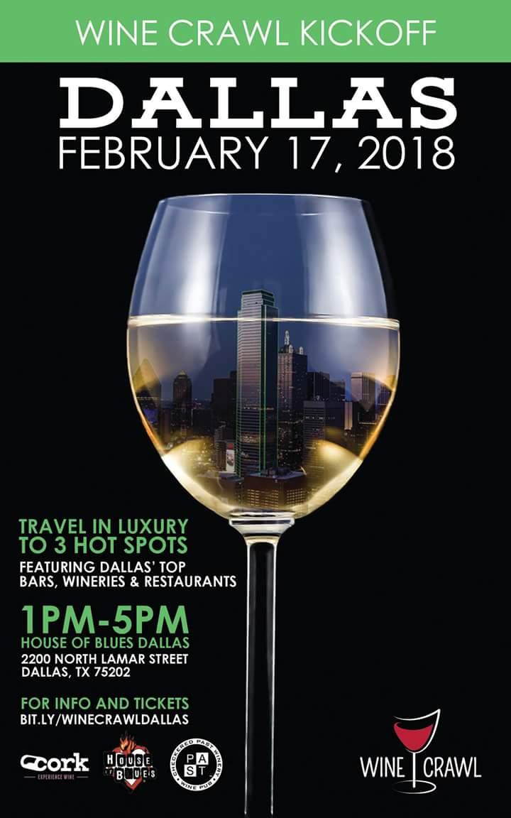 Dallas Wine Crawl Flier
