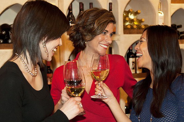 smiling ladies Wine Crawl 2014