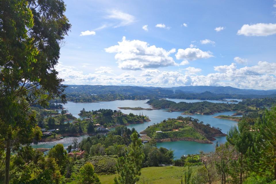 Colombia Guatape lakes