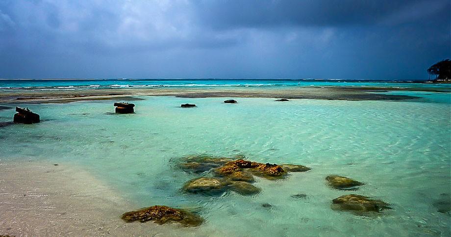 San Andres Providencia seaside beach
