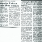 campaign reform given