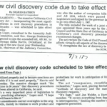 new civil discovery code