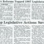 tort reforms topped 1987