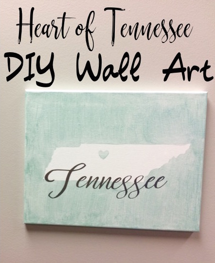 Heart of Tennessee Wall Art - Cutting DIY with Cricut