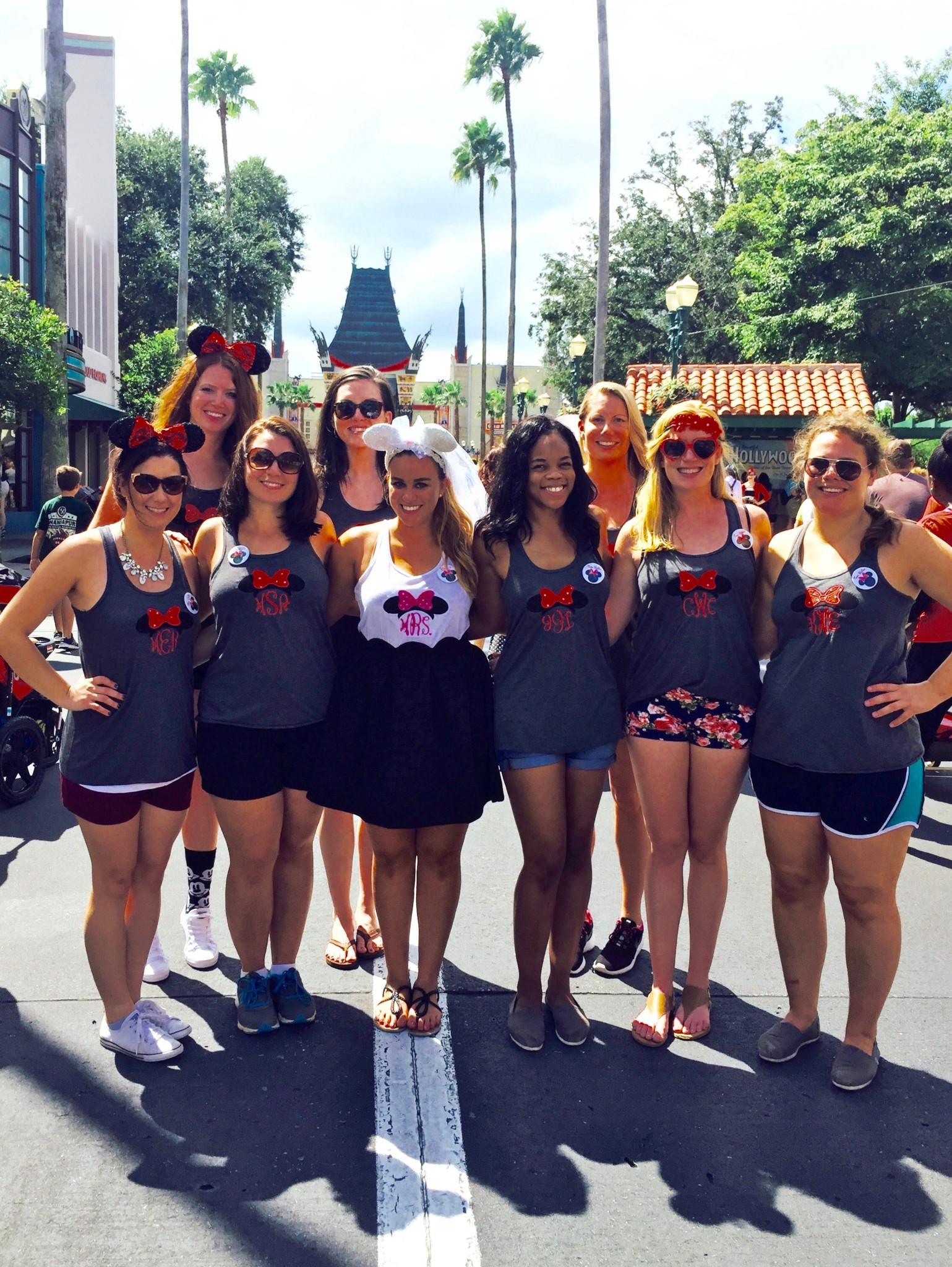 Walt Disney World Bachelorette Party Monogrammed Tank Tops