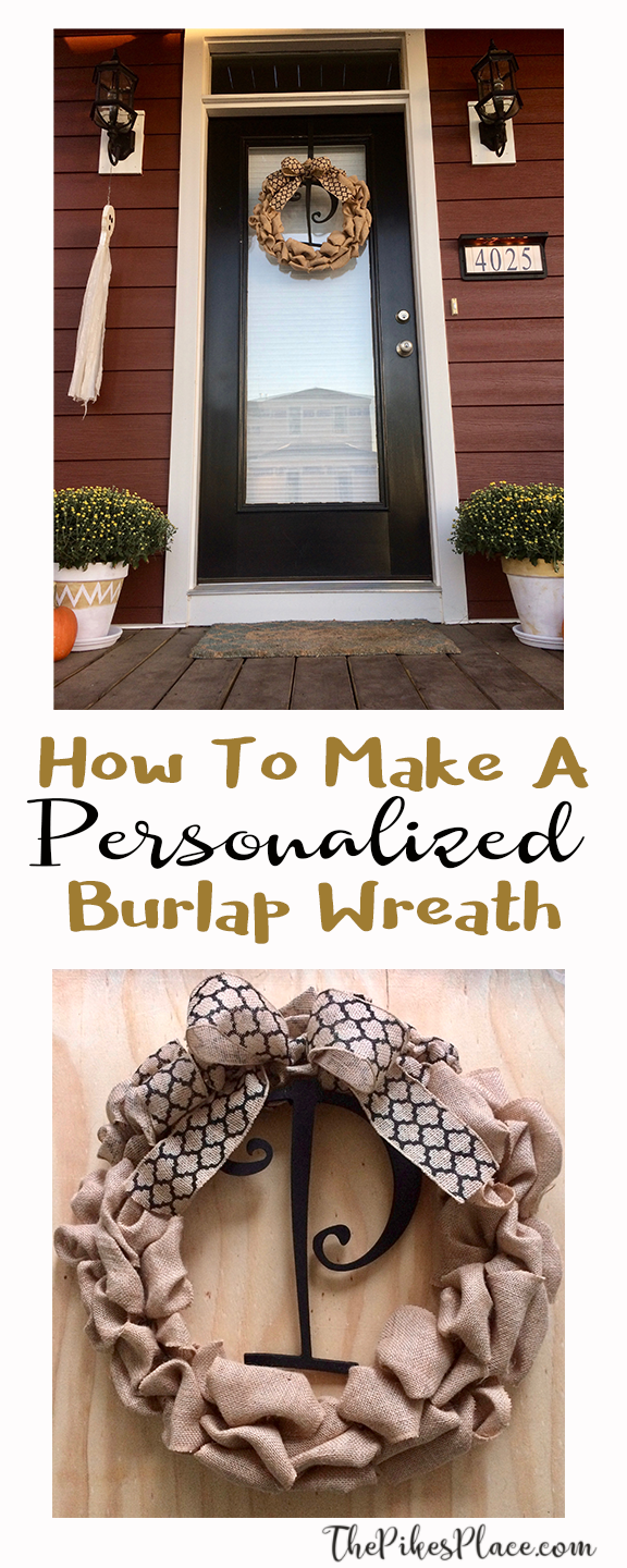 How to Make A Personalized Fall Burlap Wreath