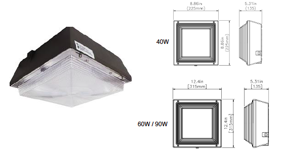 KLCP LED Canopy Light