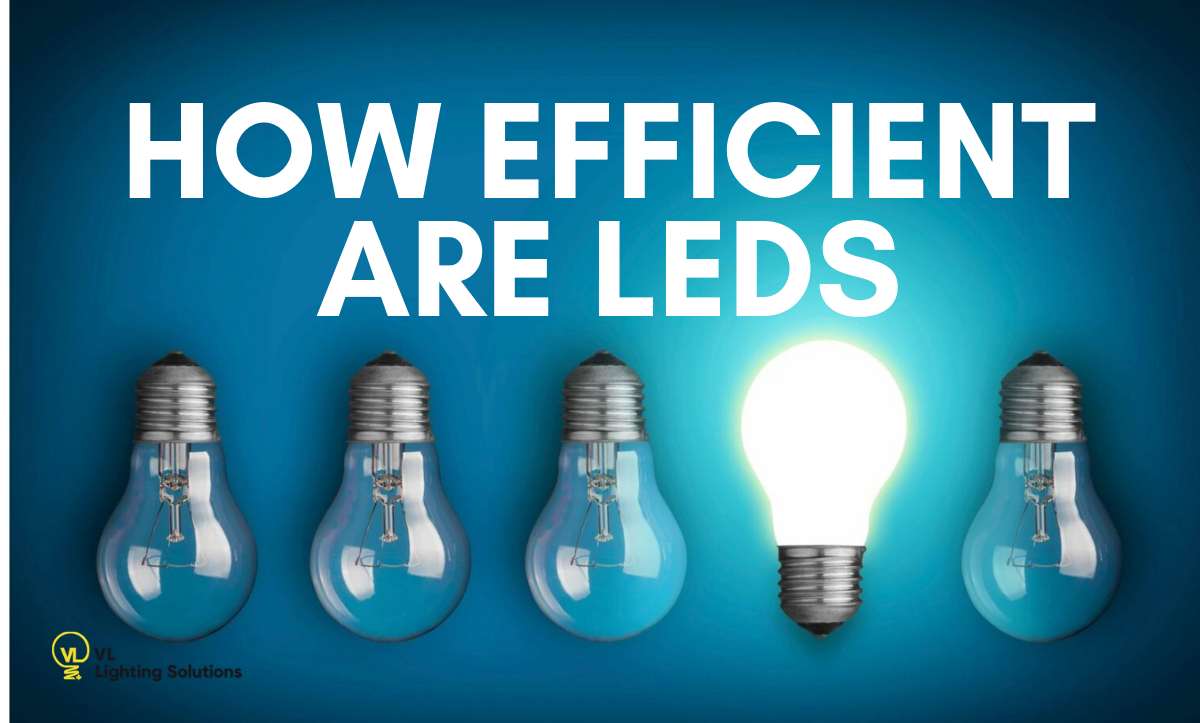 how efficient are LEDs