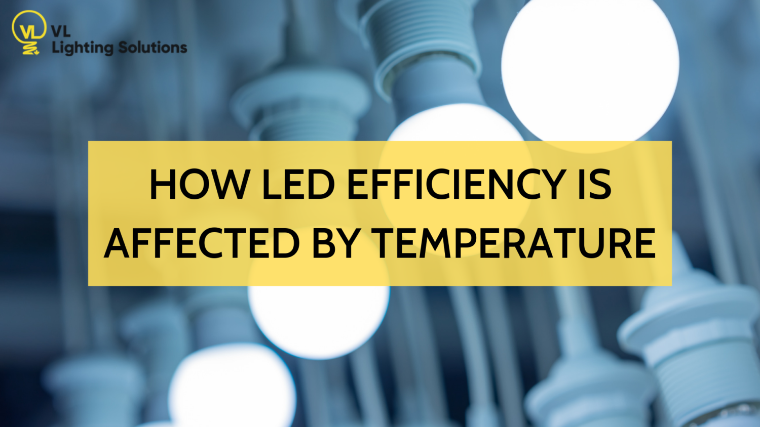 temperature affects LED efficiency