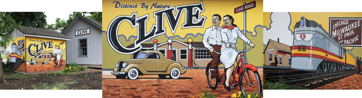 Clive Historical Society Mural
