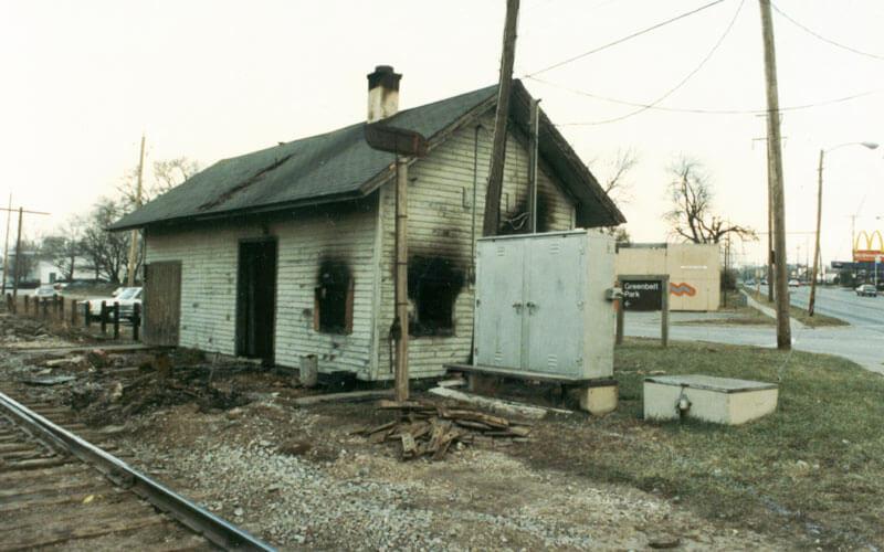 Depot—burned