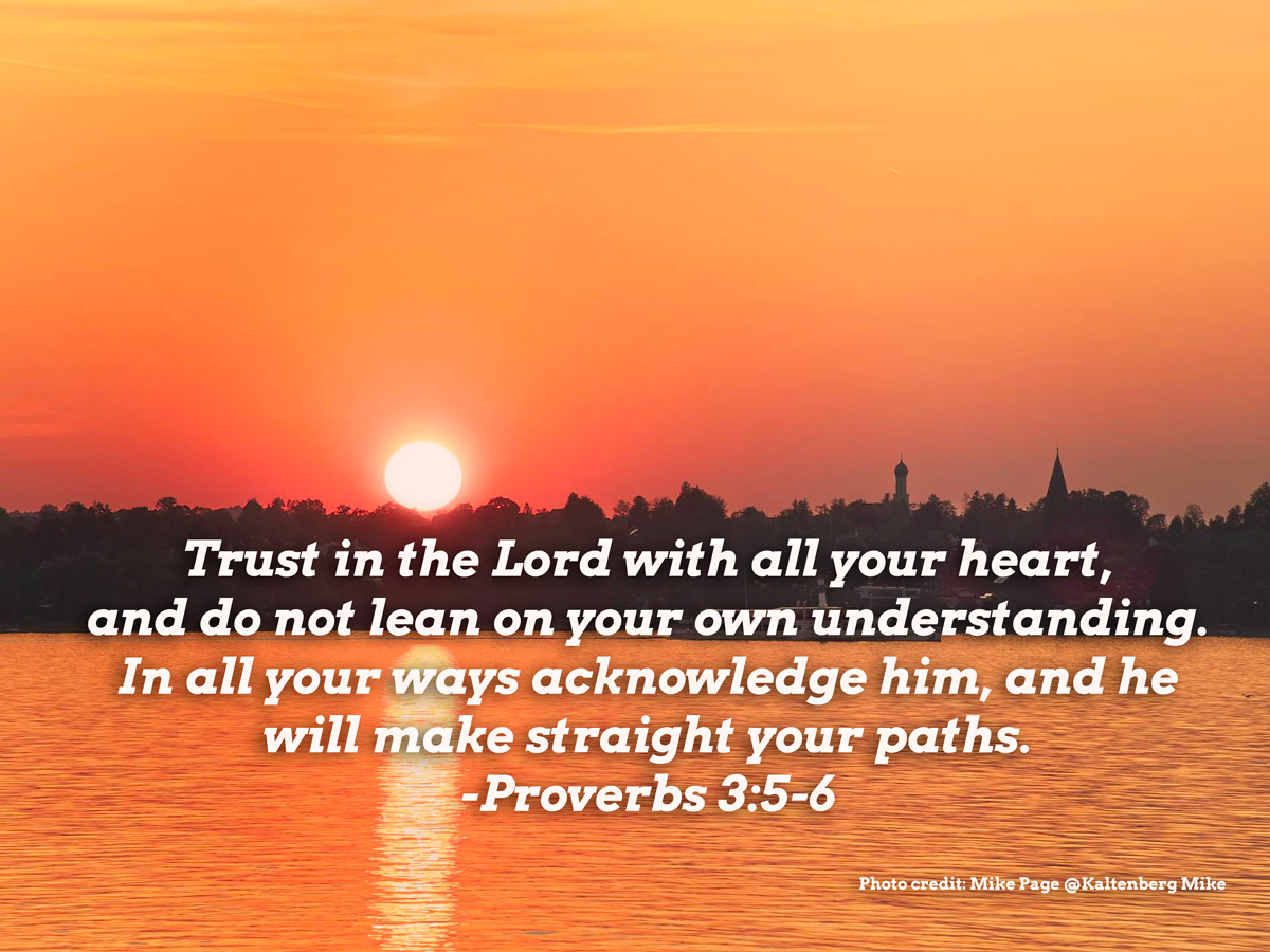 From The Pastor: Trust In The Lord
