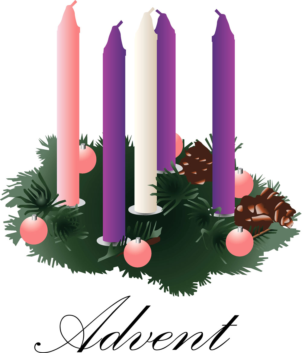 Advent Wreath With Unlit Candles1