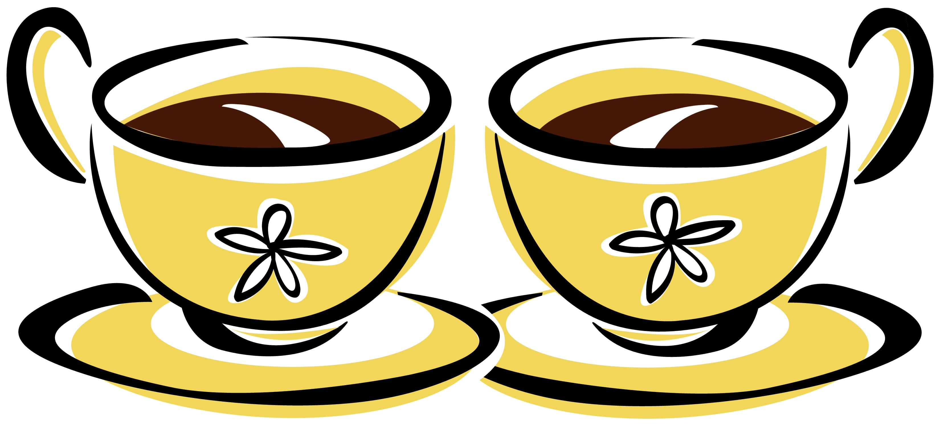 Two Coffee Cups Clipart