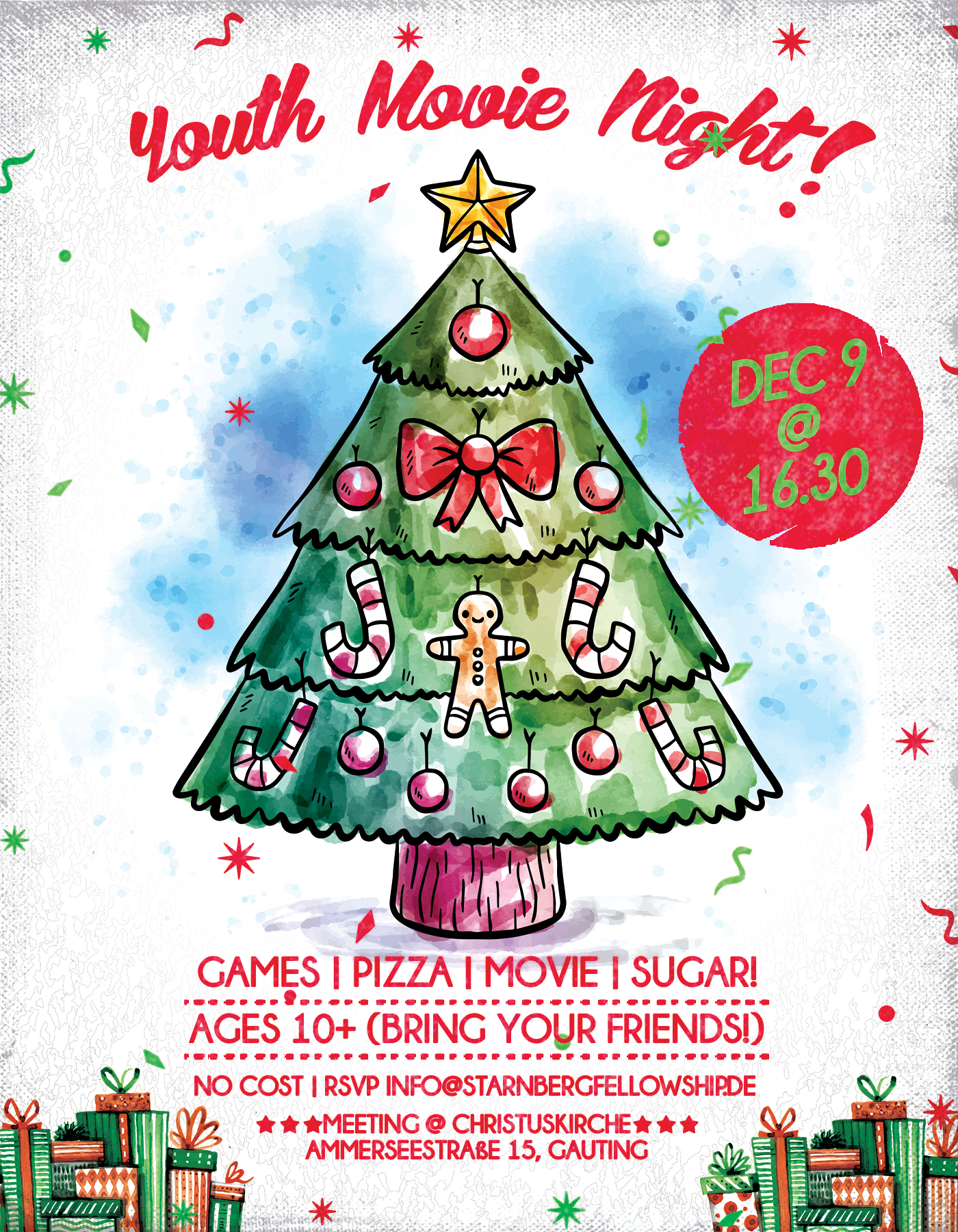 Sf Youth Christmas Party Flyer