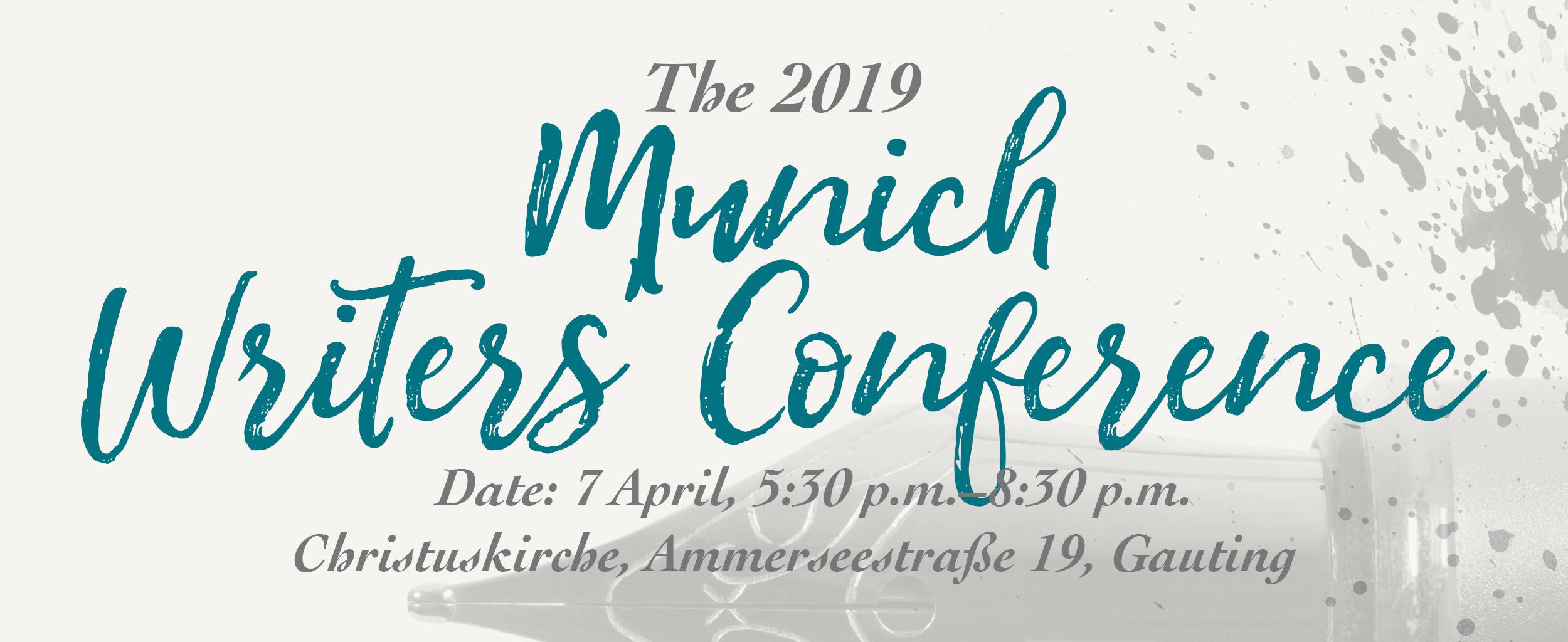The 2019 Munich Writers' Conference – 7 April