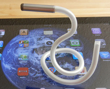 A Stlyus with a Flexible body curled into a snake shape on a computer screen.