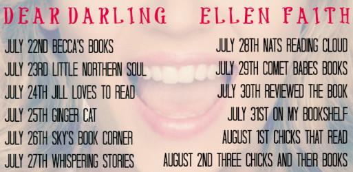 Dear Darling blog tour poster.