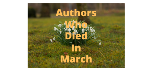 Feature Image - Authors who died in March