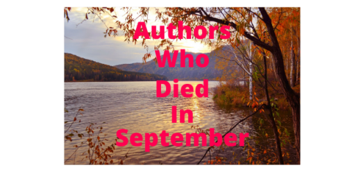 Feature Image - Authors who died in September