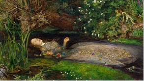 Ophelia by John Everett Millais painting