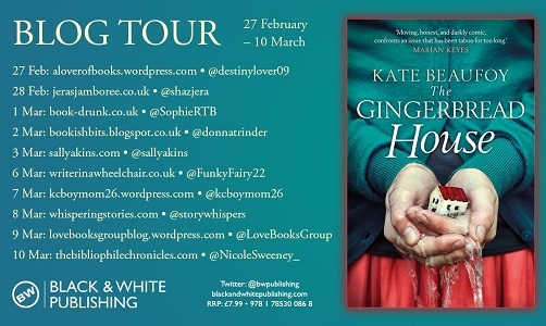 The Gingerbread House by Kate Beaufoy tour poster