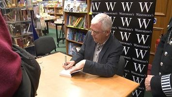 Mike at his book signing