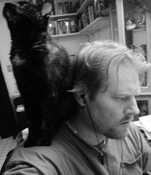Alistair with his cat