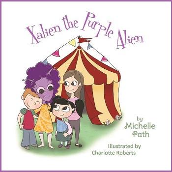 Xalien the purple alien by Michelle Path