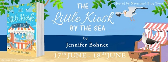 The Little Kiosk by the Sea by Jennifer Bohnet tour poster