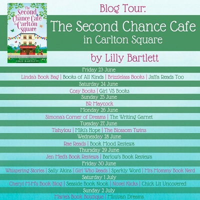 The second chance cafe blog tour poster
