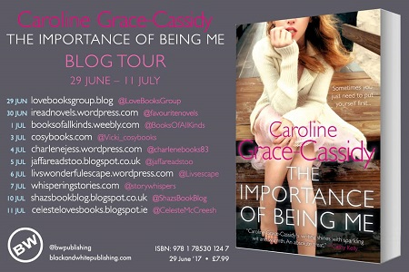The importance of being me blog tour poster