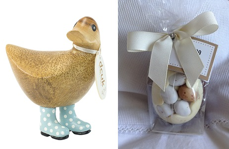 Prize Duck and chocs