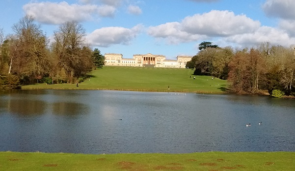 Across Eleven Acre lake to Stowe School