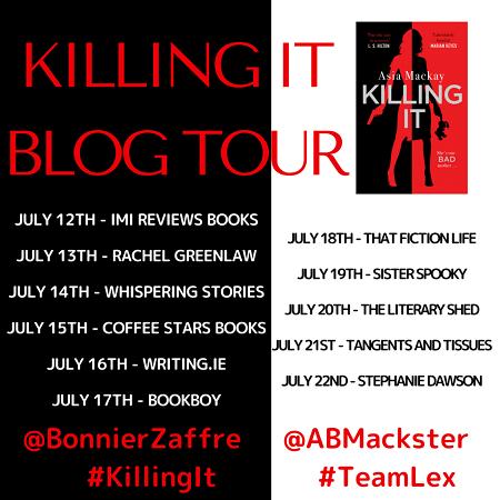 Killing it blog tour poster