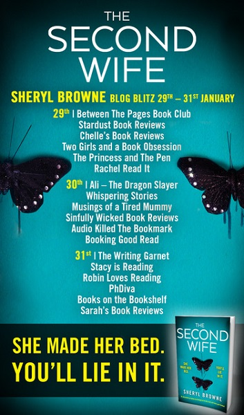 The Second Wife Blog Tour Poster.
