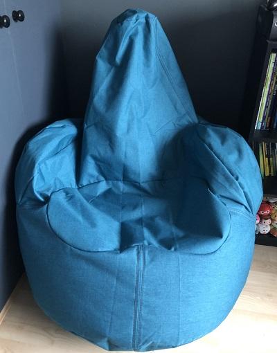 Bean chair in bedroom