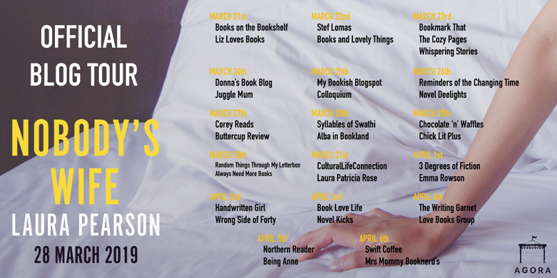 Nobody's Wife Blog Tour poster