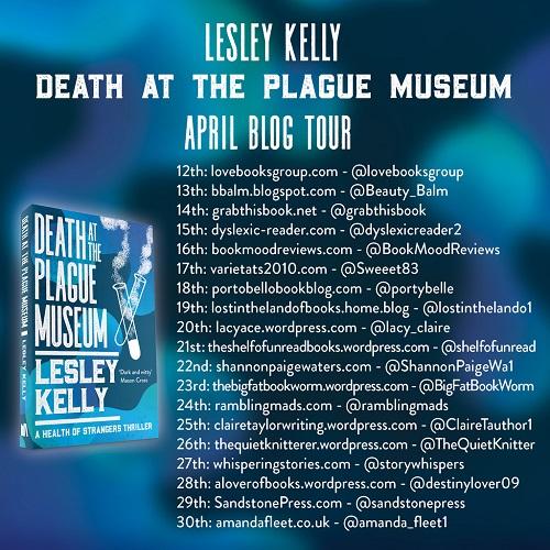 Blog tour banner plague museum