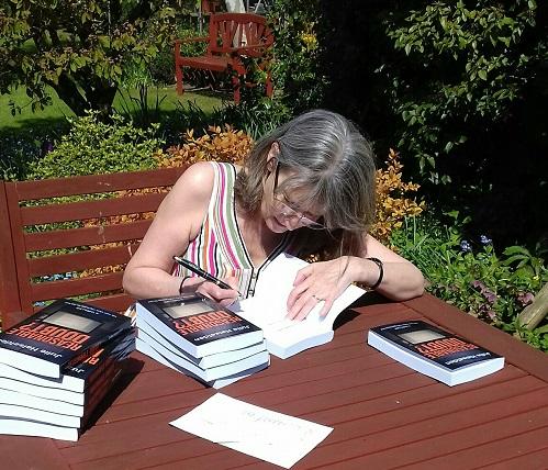 Julie signing indie books